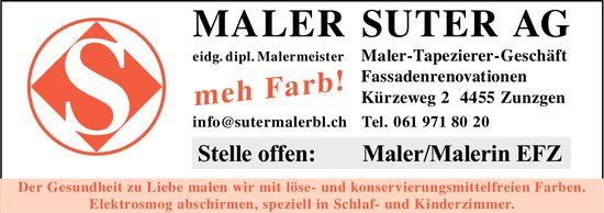 Maler/Malerin EFZ, Maler Suter AG, Zunzgen, gesucht