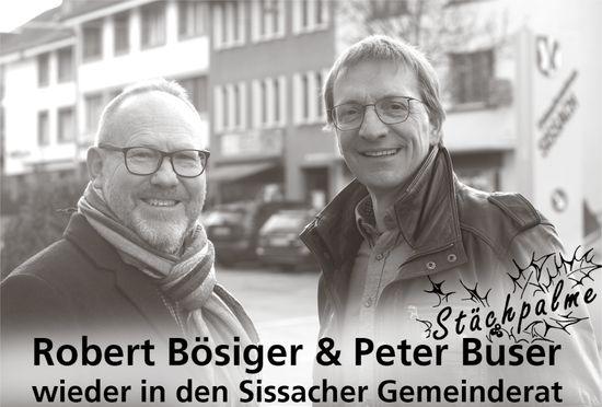 Robert Bösiger & Peter Buser wieder in den Sissacher Gemeinderat