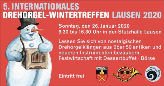 9. INTERNATIONALES DREHORGEL-WINTERTREFFEN LAUSEN 2020