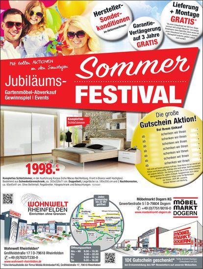 Wohnwelt Rheinfelden/ Möbelmarkt Dogern KG - Sommer Jubiläums-Festival