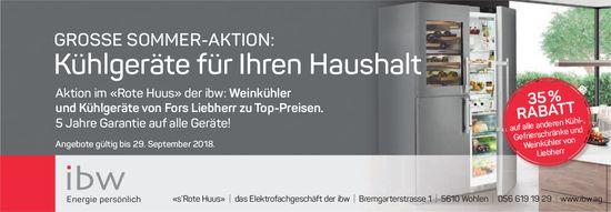 Aktion im «Rote Huus» der ibw: Weinkühler und Kühlgeräte von Fors Liebherr zu Top-Preisen.