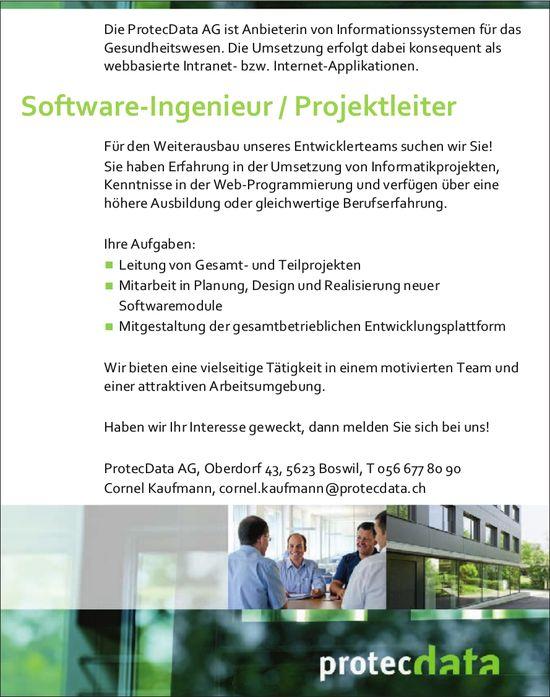 Software-Ingenieur / Projektleiter bei ProtecData AG gesucht