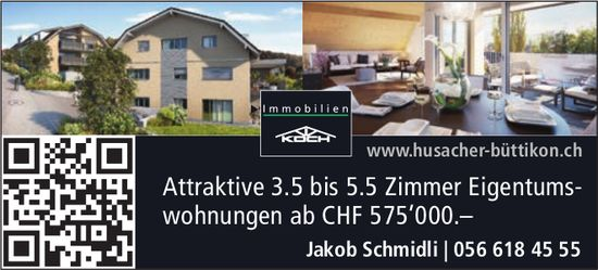 Attraktive 3.5 bis 5.5 Zimmer Eigentums- wohnungen in Büttikon zu verkaufen
