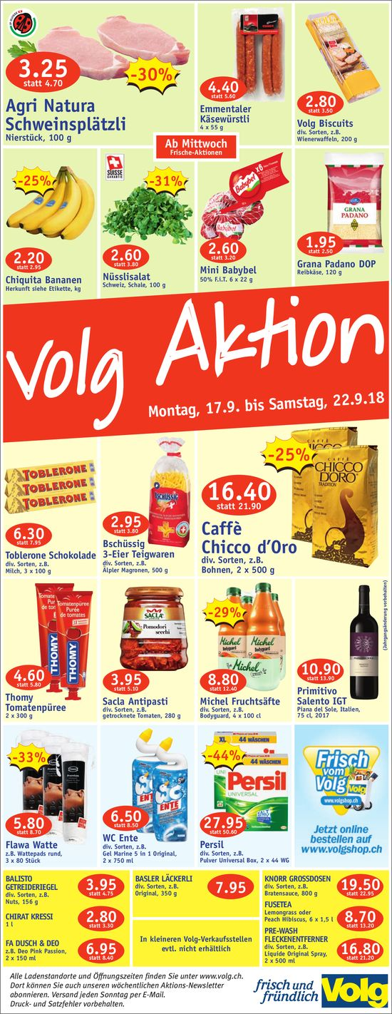 Volg Aktion, 17. - 22. September
