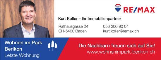 Wohnen im Park Berikon: Letzte Wohnung - Kurt Koller, Ihr Immobilienpartner