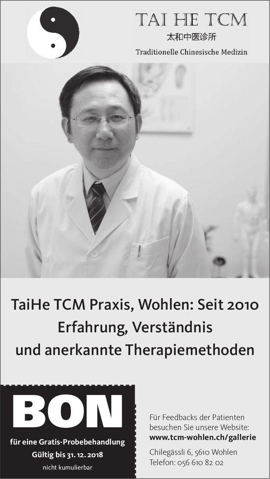 TaiHe TCM Praxis, Wohlen: Seit 2010 Erfahrung, Verständnis und anerkannte Therapiemethoden
