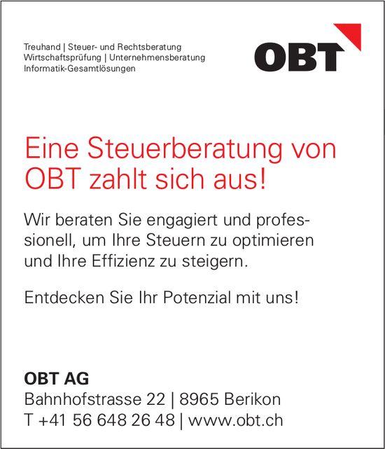 OBT AG - Eine Steuerberatung von OBT zahlt sich aus!