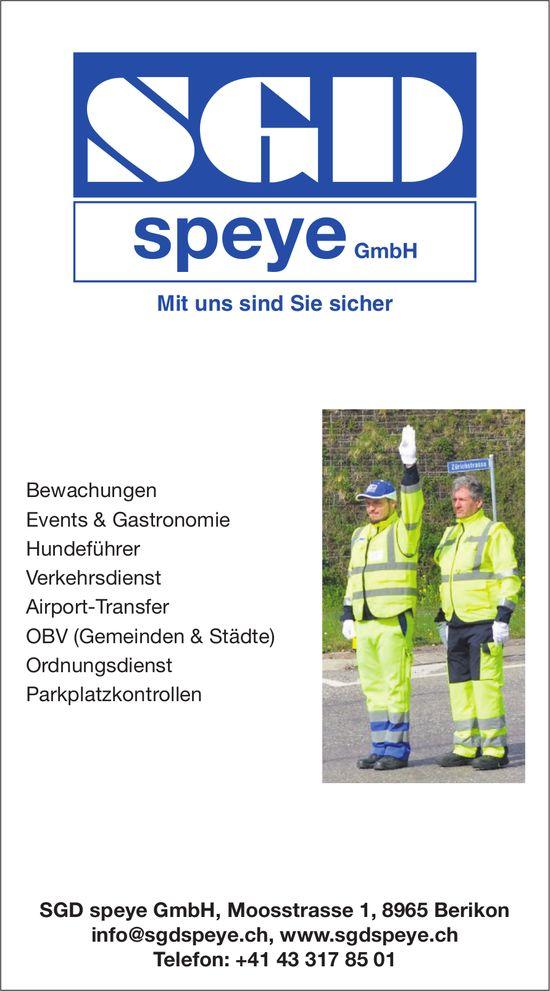 SGD speye GmbH - Mit uns sind Sie sicher
