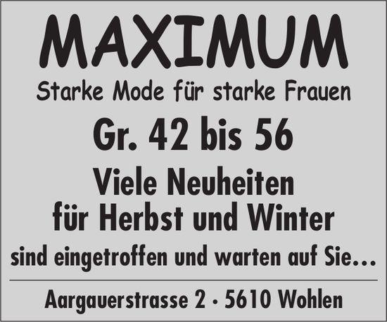 MAXIMUM, Starke Mode für starke Frauen - Viele Neuheiten für Herbst und Winter