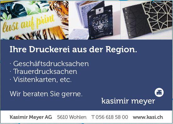 Kasimir Meyer AG - Ihre Druckerei aus der Region.