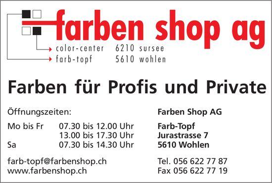Farben Shop AG - Farben für Profis und Private