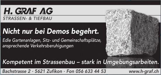 H. GRAF AG, STRASSEN- & TIEFBAU - Nicht nur bei Demos begehrt.