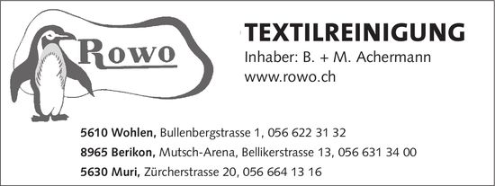 Rowo, Inhaber: B. + M. Achermann - TEXTILREINIGUNG