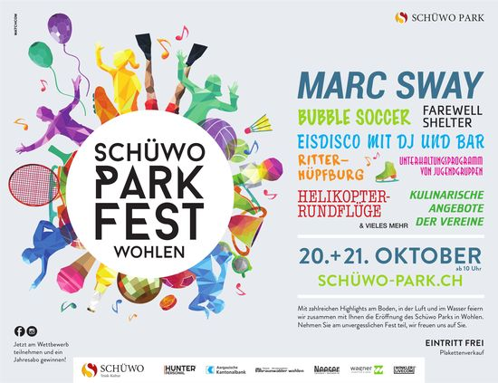 Schüwo Park Fest Wohlen, 20. + 21. Oktober