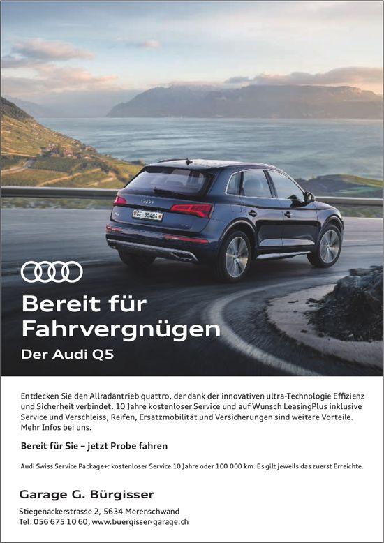 Garage G. Bürgisser - Bereit für Fahrvergnügen: Der AudiQ5