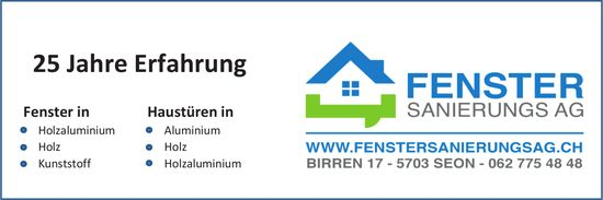 FENSTER SANIERUNGS AG - 25 Jahre Erfahrung