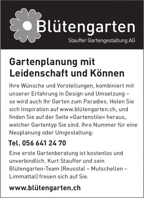 Blütengarten Stauffer Gartengestaltung AG - Gartenplanung mit Leidenschaft und Können