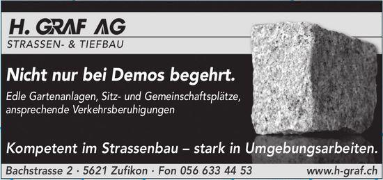 H. GRAF AG STRASSEN- & TIEFBAU - Nicht nur bei Demos begehrt.