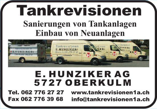 E. HUNZIKER AG - Tankrevisionen
