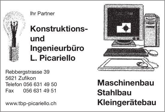 Konstruktions- und Ingenieurbüro L. Picariello - Maschinenbau, Stahlbau, Kleingerätebau