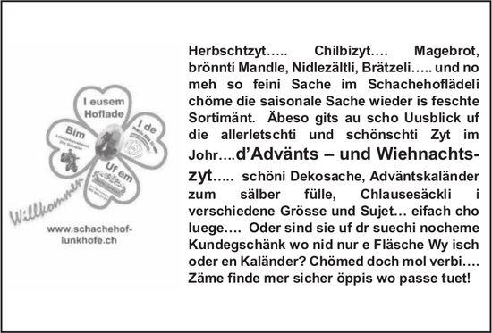 Schachehof - Willkommen: Zäme finde mer sicher öppis wo passe tuet!