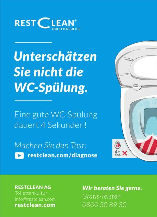 RESTCLEAN AG - Unterschätzen Sie nicht die WC-Spülung.