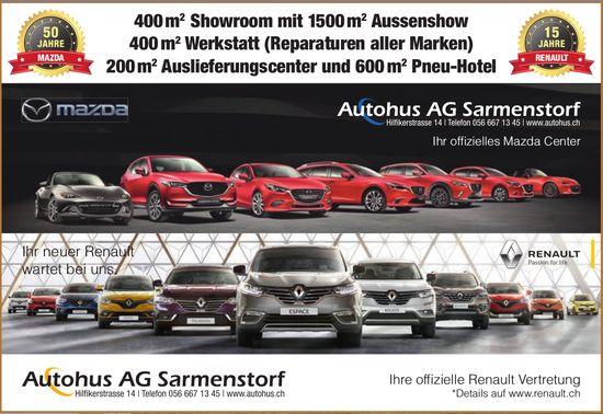 Autohus AG Sarmenstorf, 400 m² Showroom mit 1500 m² Aussenshow