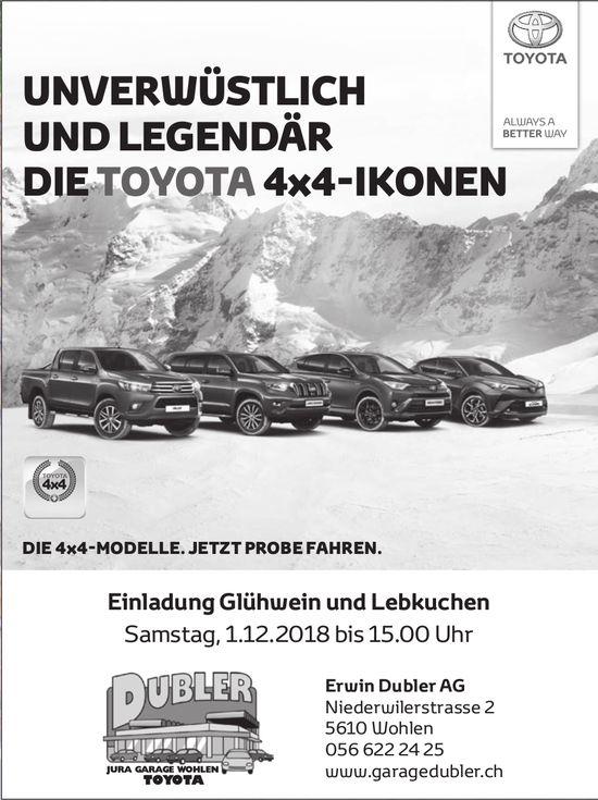 Die Toyota 4x4-Ikonen, Glühwein und Lebkuchen, 1. Dez., Erwin Dubler AG