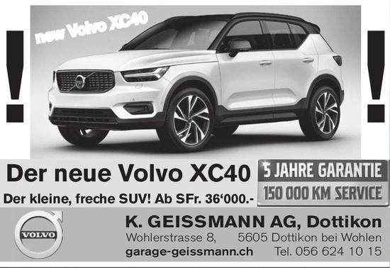 Der neue Volvo XC40, K. Geissmann AG