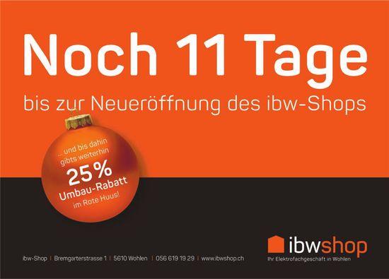 Noch 11 Tage bis zu Neueröffnung des ibw-Shops