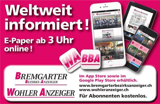 BBA/WA - Weltweit informiert ! E-Paper ab 3 Uhr online !
