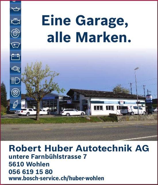 Robert Huber Autotechnik AG - Eine Garage, alle Marken.
