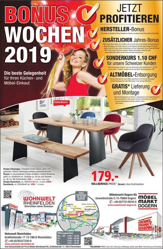 Wohnwelt Rheinfelden/ Möbelmarkt Dogern KG - Bonus Wochen 2019