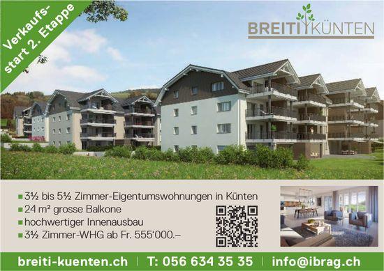 3½ bis 5½ Zimmer-Eigentumswohnungen in Künten zu verkaufen