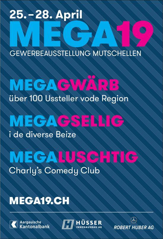 MEGA 19, GEWERBEAUSSTELLUNG MUTSCHELLEN, 25. - 28. April