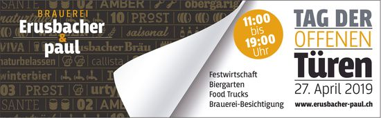Tag der offenen Türen, 27. April 2019, Brauerei  Erusbacher & paul