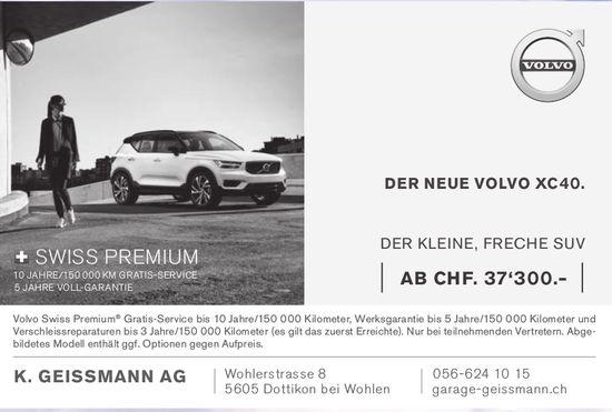 Garage K. Geissmann AG in Dottikon bei Wohlen - Der neue Volvo XC40