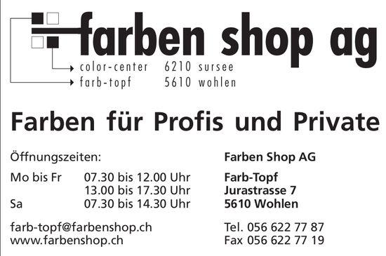 Farben Shop AG in Wohlen - Farben für Profis und Private