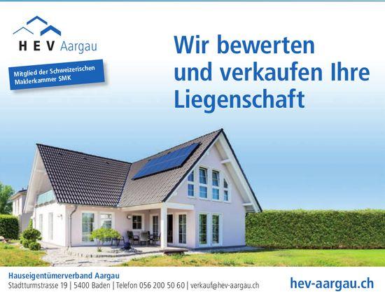 HEV Region Aargau - Wir bewerten und verkaufen Ihre Liegenschaft