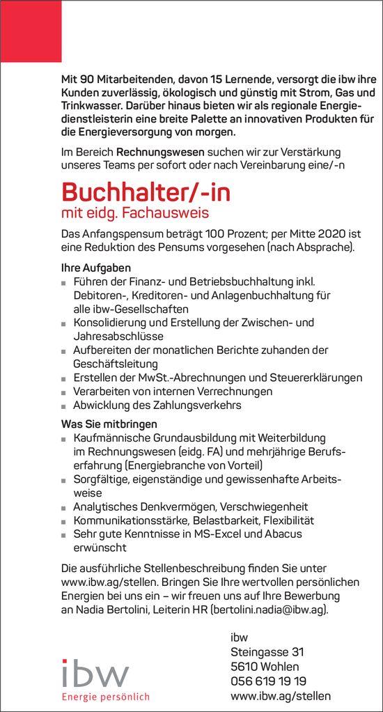 ibw sucht: Buchhalter-in