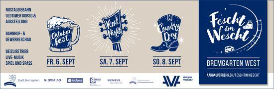 """Fescht im Wescht"" vom 6. bis 8. September in Bremgarten"