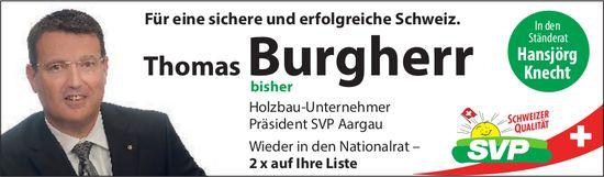 Thomas Burgherr wieder in den Nationalrat