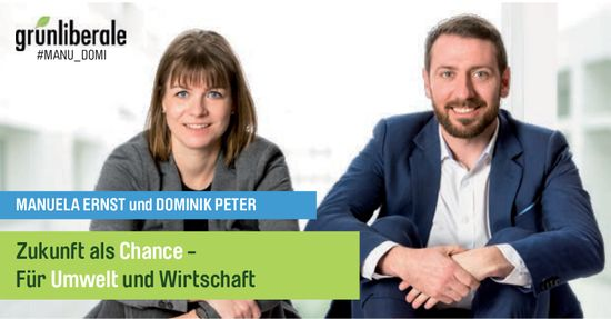 Manuela Ernst und Dominik Peter in den Nationalrat