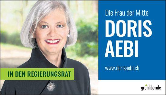 Doris Aebi in den Regierungsrat