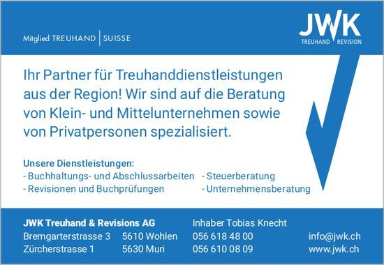 JWK Treuhand & Revisions AG in Wohlen