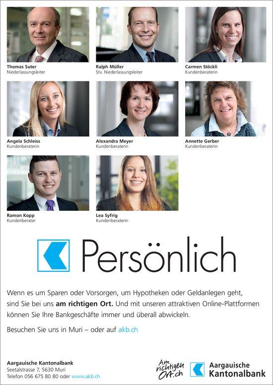 Aargauische Kantonalbank - Persönlich