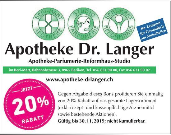 Apotheke Dr. Langer in Berikon