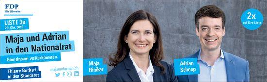 Maja und Adrian in den Nationalrat