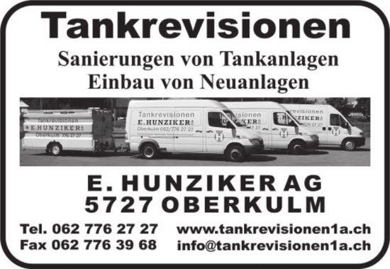 Tankrevisionen Hunziker AG in Oberkulm