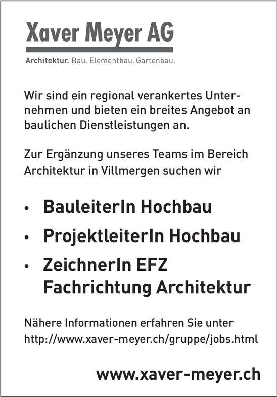 Diverse Stellen bei Xaver Meyer AG
